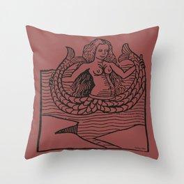 Mermaid on Marsala Throw Pillow