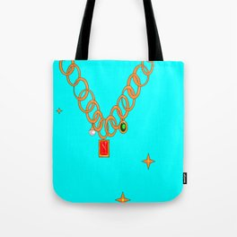 Jewels, gems of ruby, pearl and emerald Tote Bag