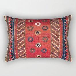 Borjalou Kazak Southwest Caucasus Prayer Rug Print Rectangular Pillow