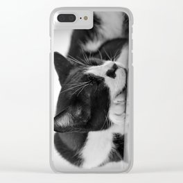Sleeping Cat Clear iPhone Case