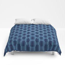 background dark blue  squares Comforters