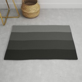 Four Shades of Black Rug