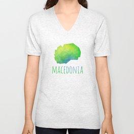 Macedonia Unisex V-Neck