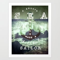 THE SAILOR QUOTE Art Print