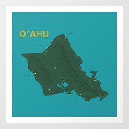 Oahu Art Print