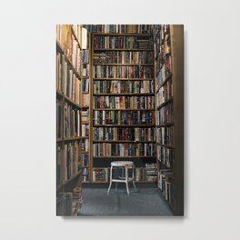 lost in the library. Metal Print