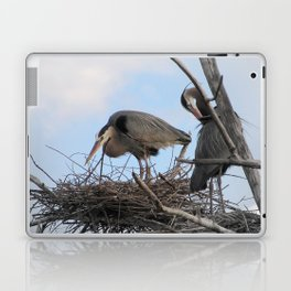 Great Blue Herons Nesting Laptop & iPad Skin