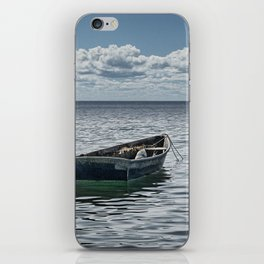 Maine Boat looking out to Sea iPhone Skin