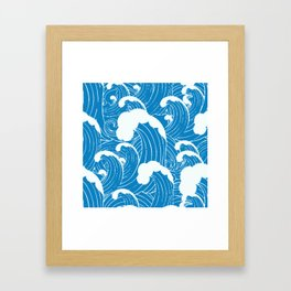 waves after waves Framed Art Print