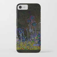leather iPhone & iPod Cases featuring Leather floral by Lydia Cheval