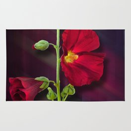 The Red Flower Rug