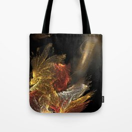 Dragon with staircase Tote Bag