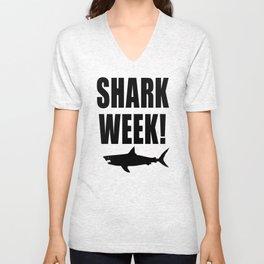 Shark week (on white) Unisex V-Neck