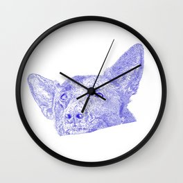 Mitzi takes it easy, blue Wall Clock