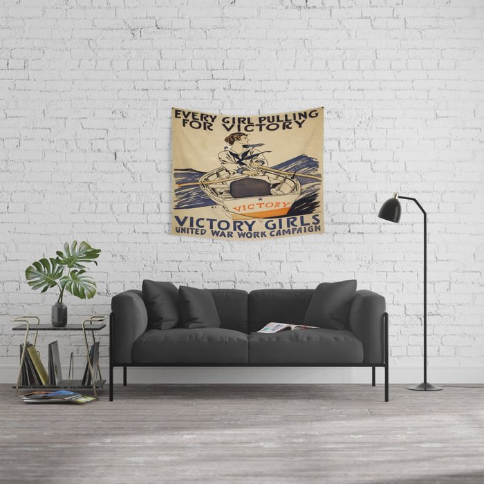 Vintage poster - Victory Girls Wall Tapestry