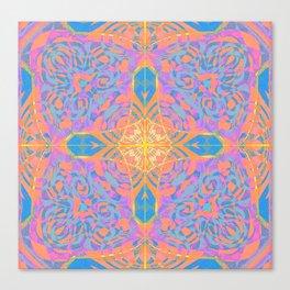 Boho Glow Mandala Cross Canvas Print