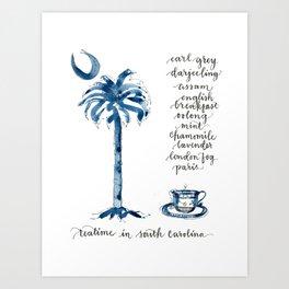 Teatime in South Carolina Art Print