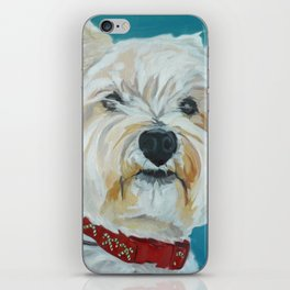 Jesse the Beautiful West Highland White Terrier Dog Portrait iPhone Skin