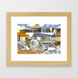 NY Stripes Framed Art Print