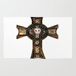 Celtic Cross With Skull Rug