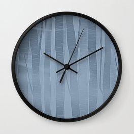 Woodland -  Minimal Blue Birch Forest Wall Clock