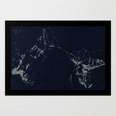 Yosemite Glacier Point Drawing Art Print