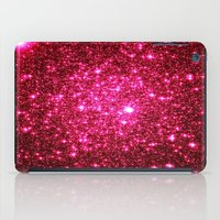 glitter iPad Cases featuring Hot Pink Glitter Stars by 2sweet4words Designs