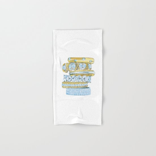 Golden Rings Hand & Bath Towel
