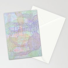 Words and Water Paint Stationery Cards