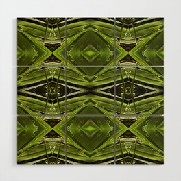 Dew Drop Jewels on Summer Green Grass Wood Wall Art