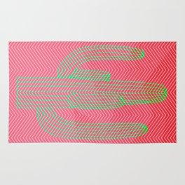 Deserted cactus - chevron pink Rug
