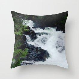 Waterfall - Deception Falls, WA Throw Pillow