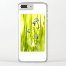 Lovely Morning Meadow Forget Me Not #decor #society6 Clear iPhone Case
