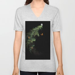 Woodland Butteflies Unisex V-Neck