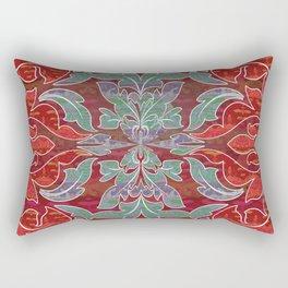 Boujee Boho Collection Deep Red Seal Rectangular Pillow