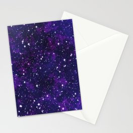 winter galactic Stationery Cards