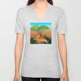 Ethiopian Wolf Unisex V-Neck