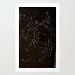 Astronomy for the Use of Schools and Academies (1882) - Scorpio, Sagittarius, Ophiuchus & Serpens Art Print