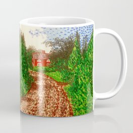 The Red House in Finland Coffee Mug