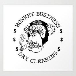 monkey business! Art Print