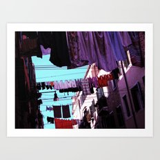 Hanging Laundry pt1 Art Print
