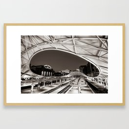 Denver Union Station - 1914 Beaux-Arts Train Station - Sepia Framed Art Print