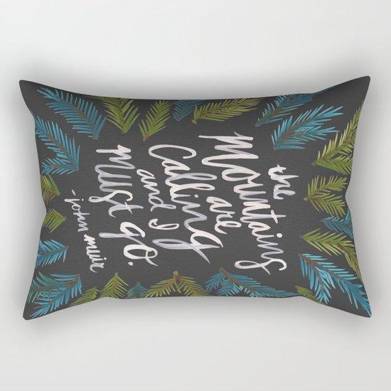 Mountains Calling – Charcoal Rectangular Pillow