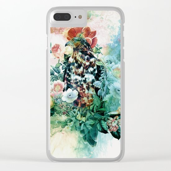 Bird in Flowers Clear iPhone Case