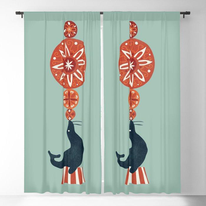 Circus Seal Blackout Curtain