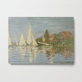 Regattas at Argenteuil Metal Print