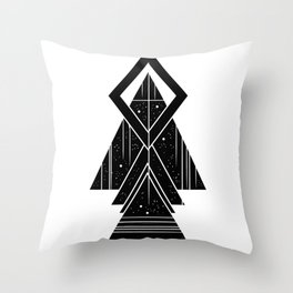 Tattoo style digital art Throw Pillow