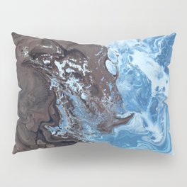 Surfing Surfer Abstract Art Waves Pillow Sham
