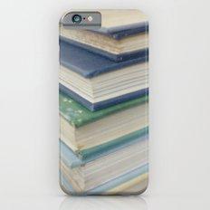 Pile of books - blue iPhone 6s Slim Case