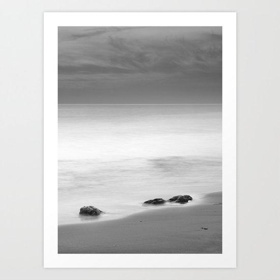 Three sunset rocks Art Print